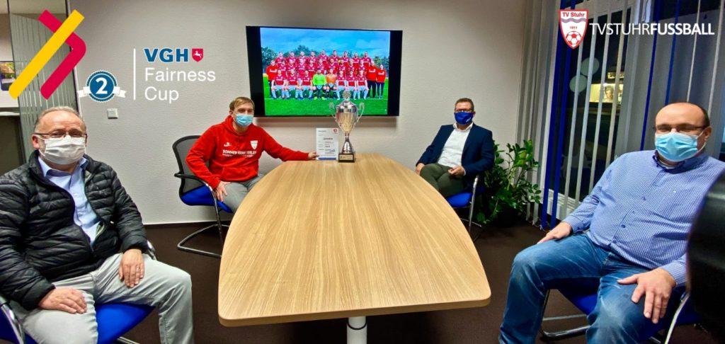 Preisübergabe TV Stuhr Fussball VGH Fairness Cup - Saison 2019/20